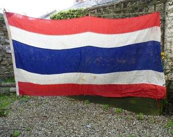 Terrific Thailand Rare Vintage Flag. Maritime Flag. Benjamin Edgington, London