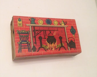 Vintage Match Box/Old Blue Tip Matches/50's/Matchbox/cardboard matchbox/old matchbox/CLEARANCE