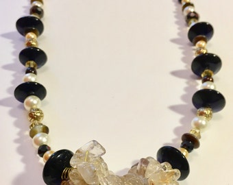 Chip Beads and Dip Necklace