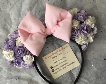 Rose Floral Minnie Mouse Ears