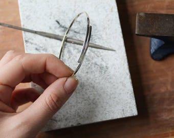 Handmade Sterling Silver Overlap Bangle