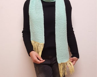 Small Hand-Knitted Scarf