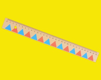 Geometric Triangles 30cm Ruler - Gift for Stationery Addict/Lover