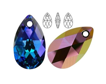 Swarovski Elements, 6106, Pear-shaped, Heliotrope, 16mm, 22mm, Swarovski Pear, Swarovski Pear-shaped, Swarovski crystal, Multicolor crystal