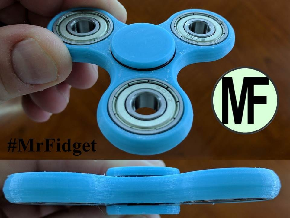 ... Ceramic Fidget Spinner ( Light Blue ). 🔎zoom