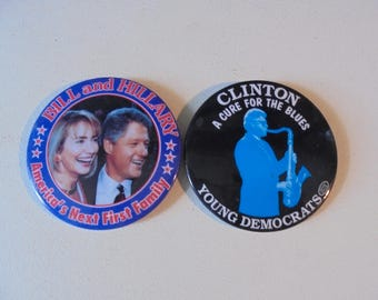Two Vintage 1992 Presidential Campaign Buttons