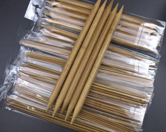 "75pcs/Set-15 Sizes -7.9"" 20cm Double Pointed Carbonized Bamboo Dark Patina Needles Knitting Knit Domestic tool sets 2.0mm-10.0mm"