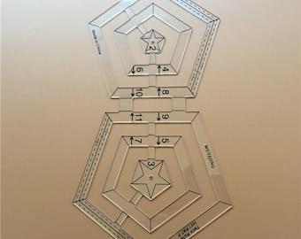 Sewing Tools Accessory Patchwork ruler acrylic material transparent ruler multifunctional ruler DIY