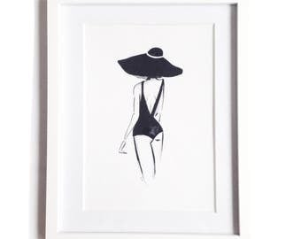 Grace • Art Print   Fashion Illustration