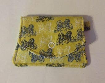 Fabric ID wallet, credit card case, travel wallet, transit pass wallet, purse accessory. Student ID case