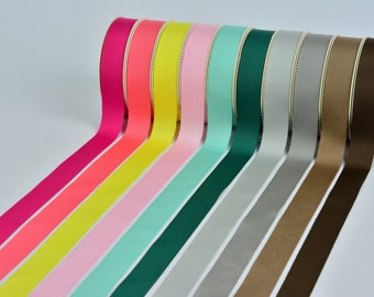 50 yards Polyester Petersham Ribbon,8 sizes, 49 colors for choose