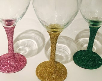 Glitter Wine glasses!