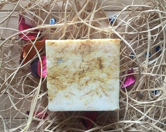 Saffron Soap 125gr. & Handmade No Colour No Parfume No Animal Fat