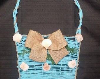 Summer Seashell Basket Wall Décor