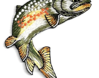 FISH-NATURAL IRON on patch applique
