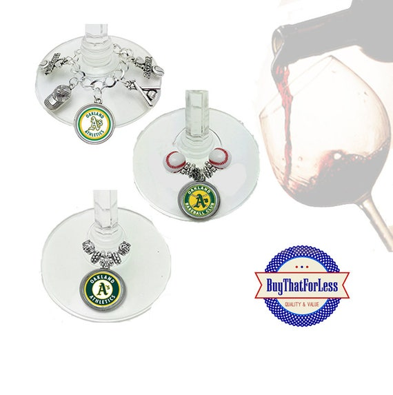 OAKLAND Wine or Bottle Charms, Napkin Rings, Set of 6, U Choose Style +FREE SHIPPING & Discounts*