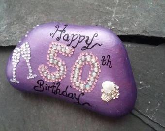 50th birthday celebration stone,birthday token,50th birthday token, birthday gifts for her.