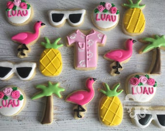 2 Dozen Mini Luau Cookies