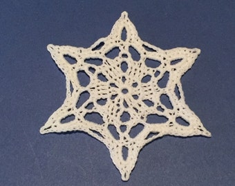 Hand Crafted Crocheted Snowflake Ornaments