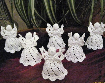 set of 6 Twirl angels