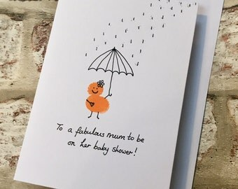 Baby Shower Card - Mum to be - Baby Shower - New Baby - Pregnancy Card