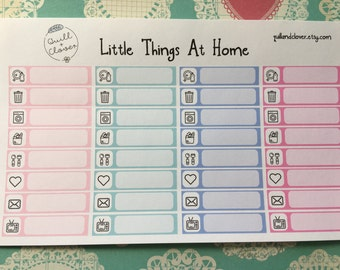 """Little Things """"At Home"""" Planner Stickers"""