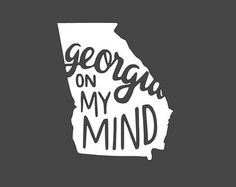 Georgia On My Mind Decal 5x6