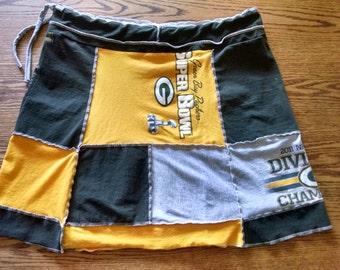 Custom Made Upcycled Women's T-Shirt Skirt Boho Beach Casual Clothing