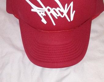 F-Rock Tag Foam Trucker Hat (Red)