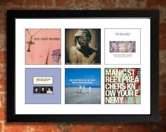 Manic Street Preachers Vinyl Albums Limited Edition Unframed Art Print