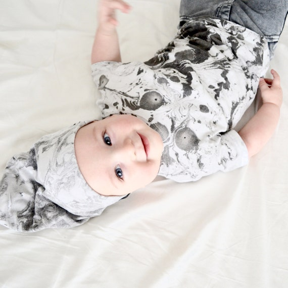 Monochrome -Baby Top - Marbled Top - Toddler Clothes - Unisex Baby Clothes - Baby Clothes - Gender Neutral Baby Clothes - Black and White