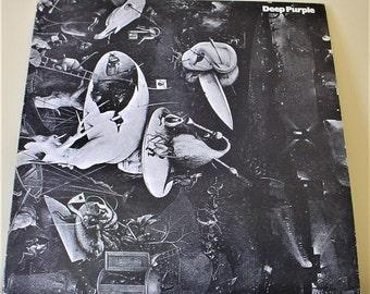 "Deep Purple - Deep Purple (1969) 12"" Vinyl LP Record Album, 1976 Rare Swedish Reissue VG+, Harvest 7C 038-90505"