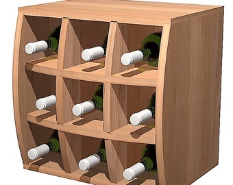 Convex Curvy Wine Cube with Wine Holder