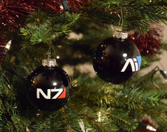 Mass Effect Christmas Ball Ornament