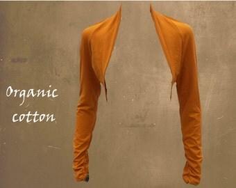 bolero organic cotton, bolero cardigan certified GOTS organic cotton