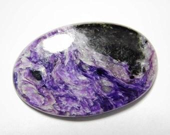 Beautiful- Purple Russian charoite gemstone, Natural charoite cabochon gemstone, charoite loose stone, charoite loose gemstone 65 Cts. R-22