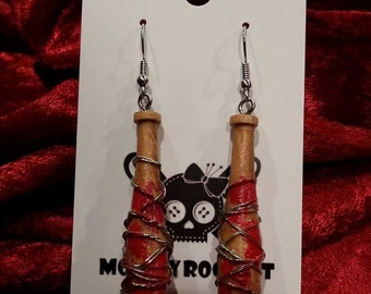 The Walking Dead Negan Inspired Lucille Earrings