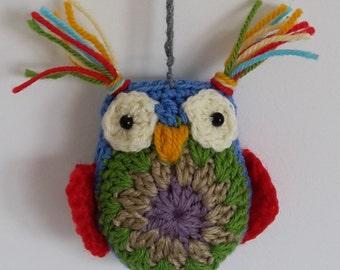 Single Hanging Crochet Owl