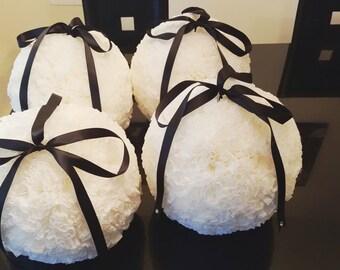 "10"" Kissing Balls (set of 6), Wedding Pomanders, Paper Kissing Balls, Wedding Paper balls,  Paper Pom Pom Balls"