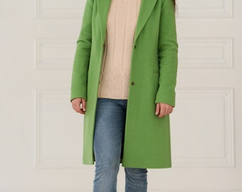 WOOL COAT GREEN