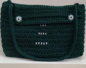 Dark green evening bag