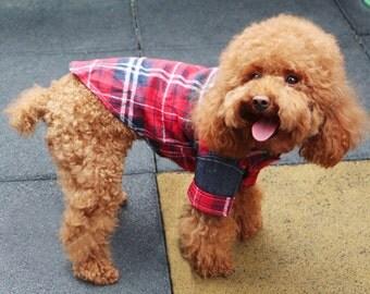 Harper Checkered Red Shirt Dog Clothes Dog Clothing Dog Shirt Dog Top