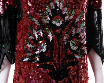 Vintage Art Deco Style Sequins Dress