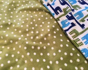 Baby Boy Minky Blanket - Baby Blanket - Newborn Gift - Blue and Green Blanket - Minky Blanket