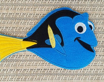 Dory iron on inspired patch, Big Dory patch inspired