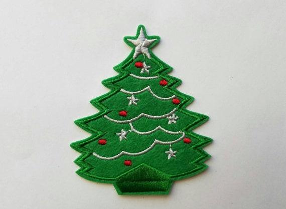 SALE Christmas Tree Iron On Patch Christmas Tree Applique