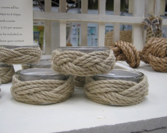 Rope Tealight Candle Holder