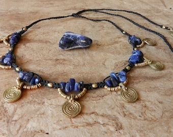 Tribal Sodalite Necklace