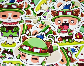 League of legends Teemo sticker! vinyl sticker,Glossy sticker,laptop,notebook sticker cute cartoon