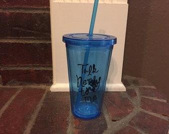 Talk Nerdy To me Tumbler-Blue
